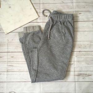 sean john womens m grey jogger pants casual sweatp